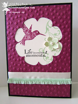 stampin up, inkspire_me #146, elements of style, petite petals, punktemeer, floral frames, blütenrahmen