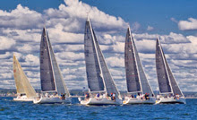 J/109 one-design sailboats- sailing AYC Fall Series on Long Island Sound