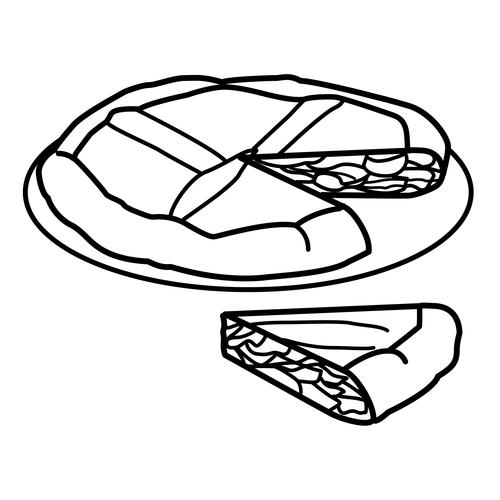 Dibujo colorear empanadas - Imagui