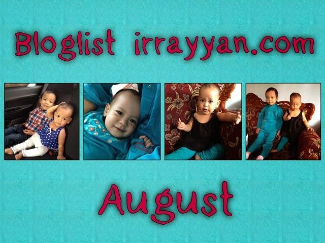 Segmen Bloglist August irrayyan.com
