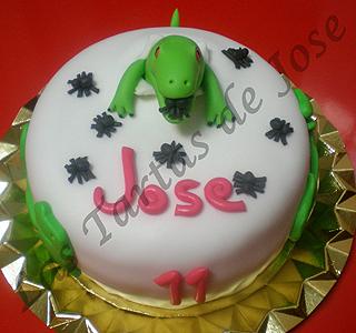 Tarta dinosaurio comearañas. Las Tartas de Jose. Castellón.