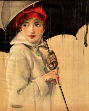 vintage illustrations rain