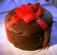 Chocolate Truffle Christmas Cake