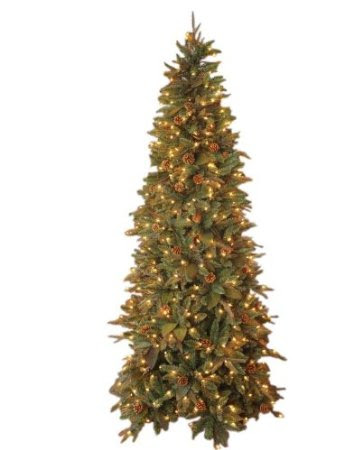 GKI Bethlehem Lighting Pre-Lit 6-1/2-Foot PE/PVC Christmas Tree with 400 Clear Mini , Green River Spruce