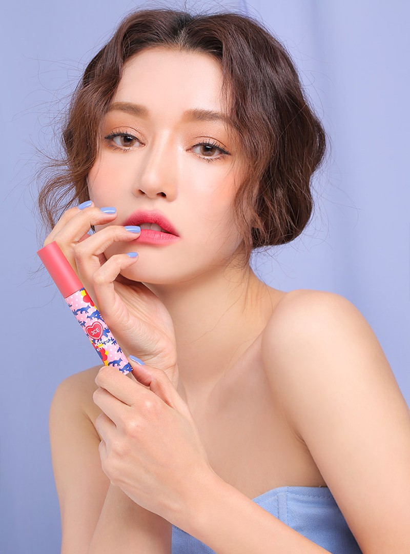 3CE Maison Kitsune Velvet Lip Tint Strawberry Delight