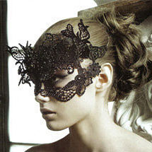 Máscara de carnaval de renda
