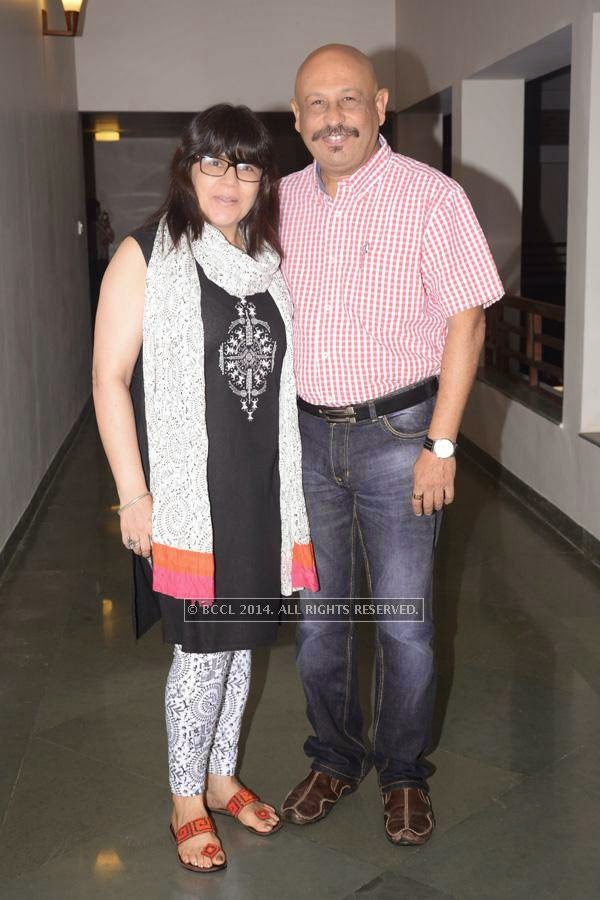 Priti and Dinesh Chhabra during the play ''Uncle Vanya'', held at Chitnavis Centre, in Nagpur.