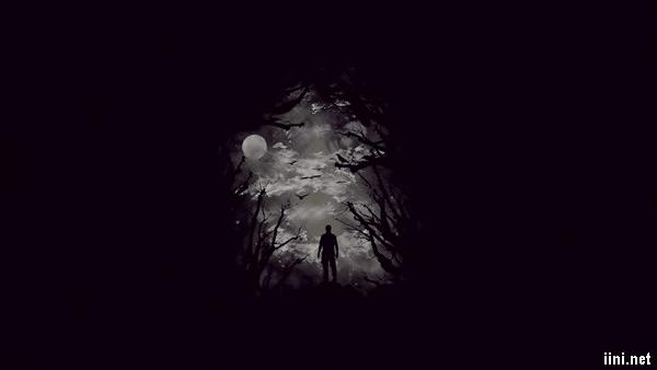 ảnh đơn độc trong bóng đêm