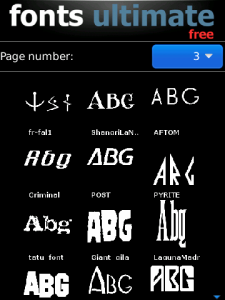 Font Ultimate v2.8 BlackBerry