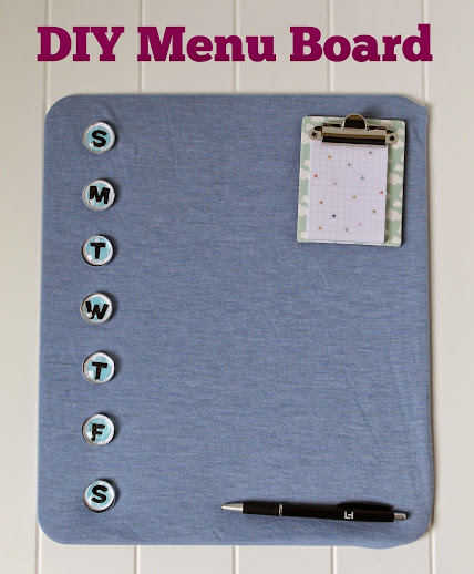 Make your days less hectic with an easy DIY Menu Board for family meal planning