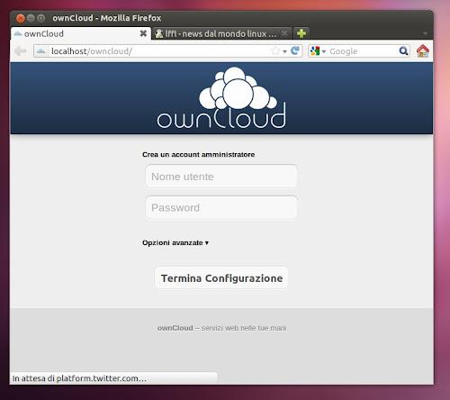 ownCloud 3.0 su Ubuntu 12.04
