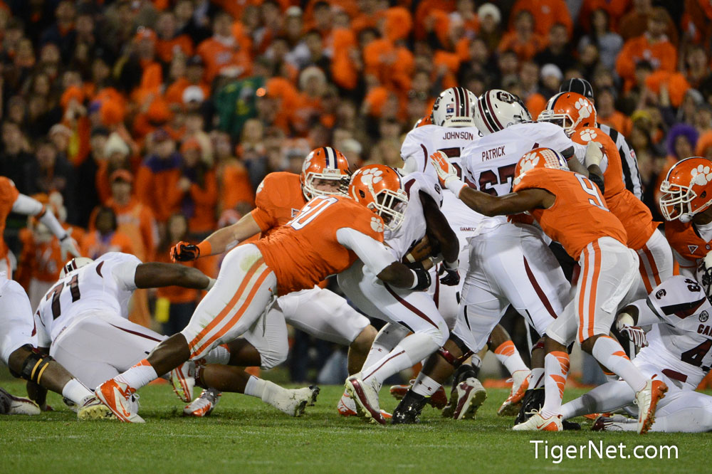 Clemson vs. South Carolina Photos - 2012, Football, Grady Jarrett, South Carolina