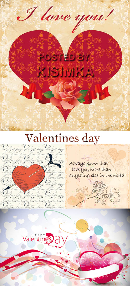 Stock: Valentines day greeting card