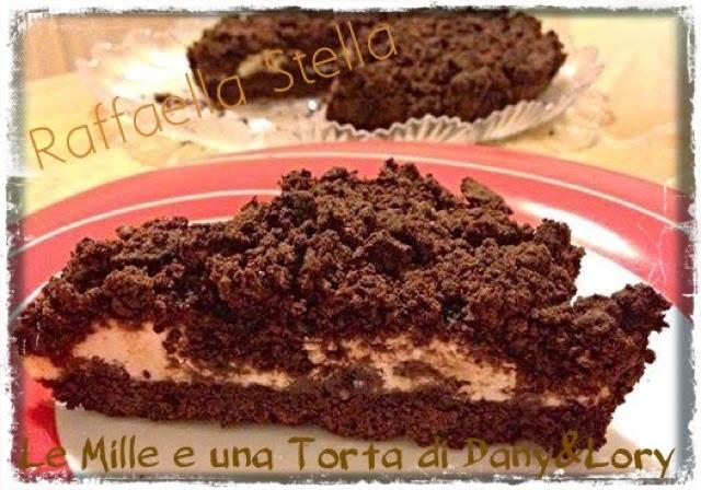 torta sbriciolata al cacao con crema di ricotta e yogurt