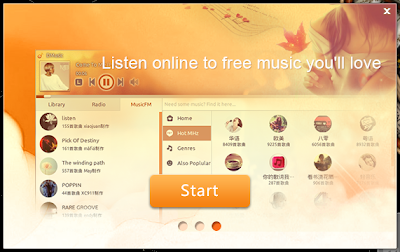 Deepin Music Player Start Screen