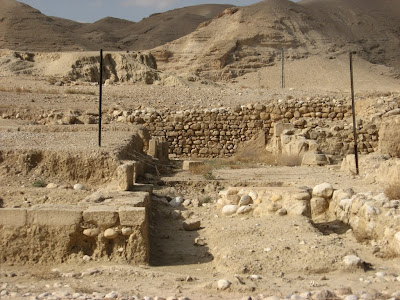 The Wadi Qelt Synagogue in the Hasmonean palaces complex west of Jericho