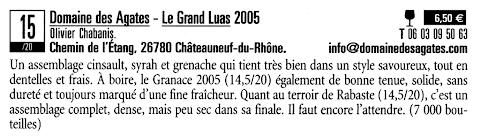 Domaine des Agates - Le guide des meilleurs vins à petits prix 2009
