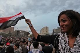 Mujeres en las manifestaciones de Egipto