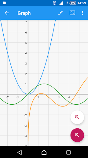 Graphing Calculator - Algeo | Analyze Functions- screenshot thumbnail