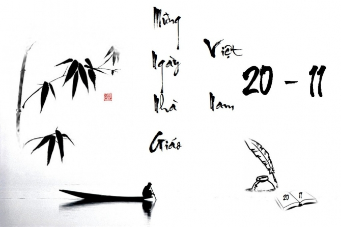 Ảnh thư pháp mừng ngày nhà giáo Việt Nam 20-11