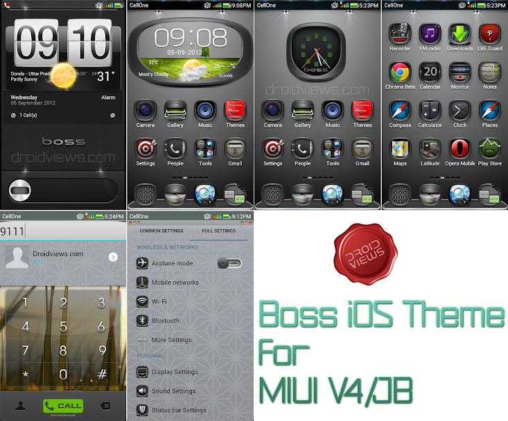Boss iOS Theme for MIUI V4/JB | DroidViews