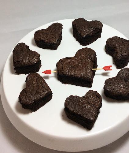 Walentynkowe ciasteczka kakaowe, brownies