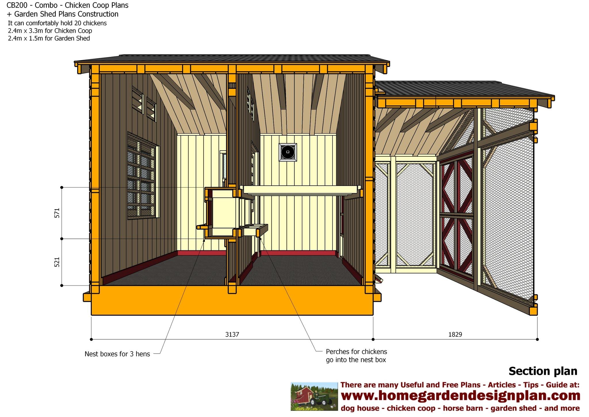 Garden Sheds 2 X 3 cb200 - combo plans - chicken coop plans + garden sheds - storage