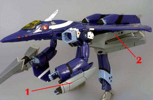 Macross VF-X2 VF-22 VF-X Ravens Armament weapon position