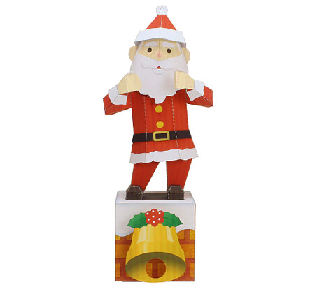 Dancing Santa Claus Papercraft