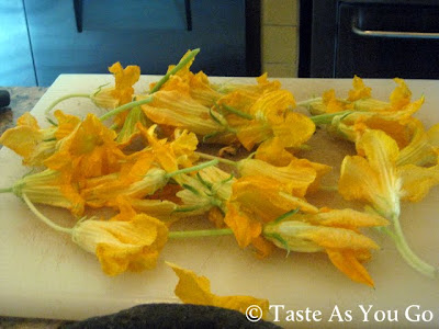 Zucchini Blossoms at Los Tamarindos in Los Cabos, Mexico - Photo by Taste As You Go