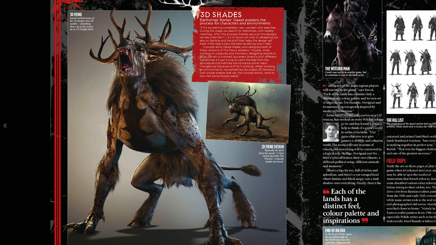 Article about Witcher 3`s artworks in the latest issue of