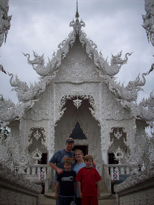 Family at Chiang Rai Temple