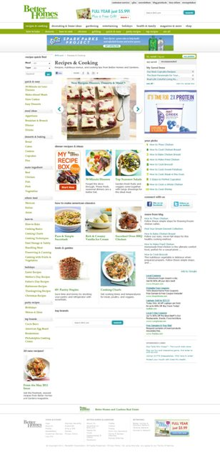 BHG.com's Redesigned Recipes and Cooking Channel - Courtesy of BHG.com