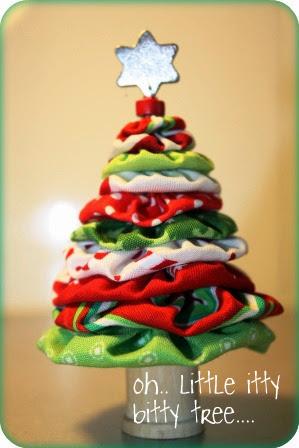 Árvore de Natal fuxico