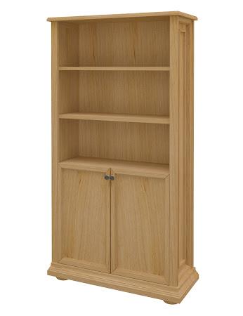 Edinburgh Wooden Door Bookshelf in Ginger Maple