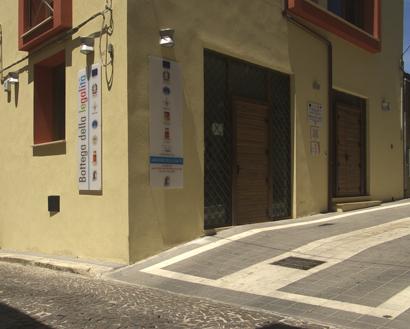 Sizilien - Die Bottega della Legalità (Laden der Legalität) in Corleone.