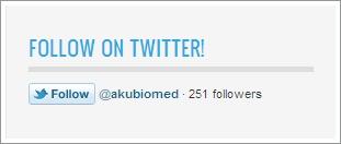 Tutorial butang Twitter Follower