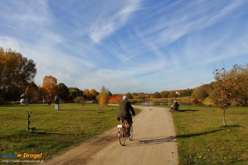 Park Reagana w Gdańsku - rowerzyści