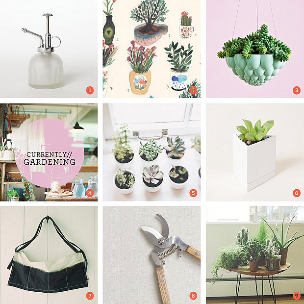 Pinterest Moodboard // Currently // Gardening Inspiration