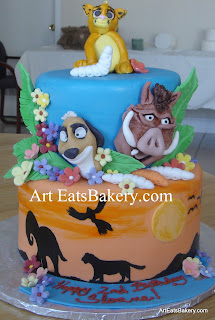 Lion King custom creative kid's birthday cake
