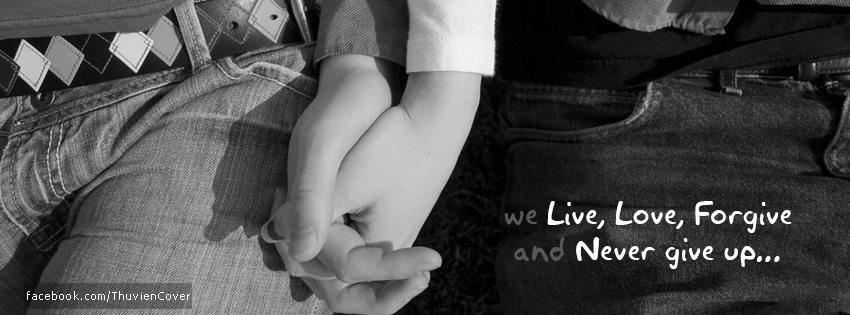 Ảnh bìa tình yêu đẹp: Nắm tay nhau thật chặt người nhé