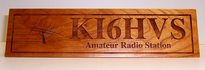 Head Honcho Ham Radio Antenna Custom Call Sign Desk Plaque