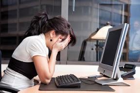 Crying at computer