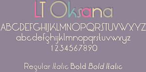 LT Oksana Font Family Preview