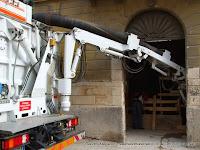 Braccio telescopico dell'escavatore a risucchio