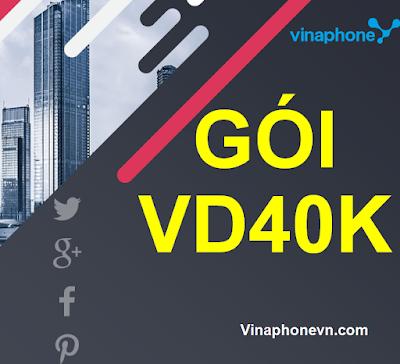 Nhận 30GB data, Miễn phí Gọi cùng gói  VD40K Vinaphone