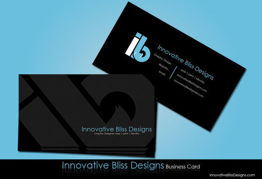 Business Card Design: innovativebliss - IB Business Card