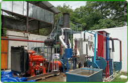 The waste heat is used to run a 15 kWth Vapor Absorption Machine to provide  cooling in the cold storage.
