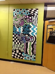Collaborative Zentangle(R) for School Beautification