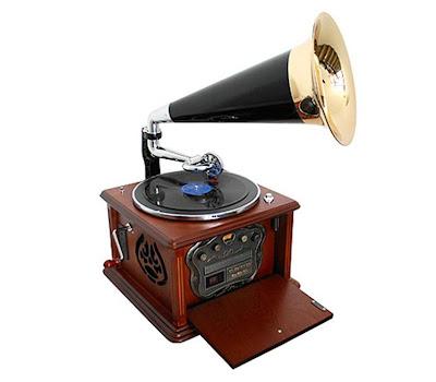 Retro platenspeler / grammofoon